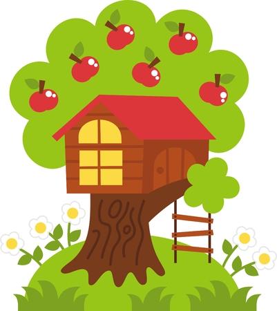rope ladder: playground - the tree house, cheerful childhood