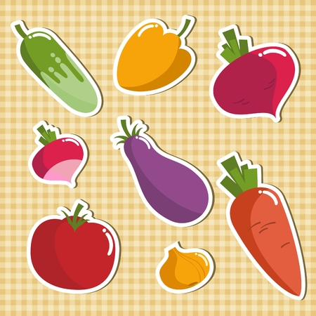 beet root: vector graphics, vegetables - set of products for vegetarians
