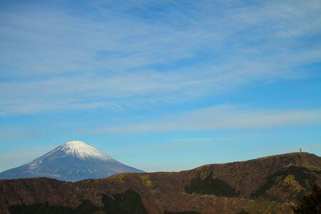 toge: Mt. Fuji and Nagao-toge Pass-view from Hakone, Japan Stock Photo