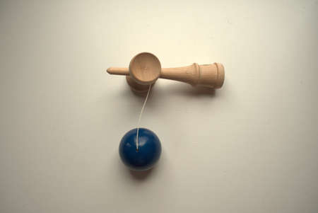 Japanese wooden toy called kendama suitable for children and adults