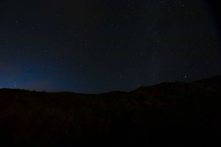 A timelapse of starry sky in Shizuoka at night Stock fotó