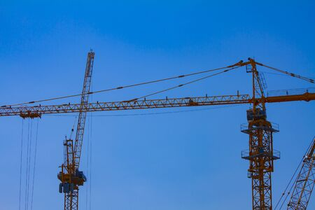 Crane at the under construction in Ho Chi Minh Vietnam closeup