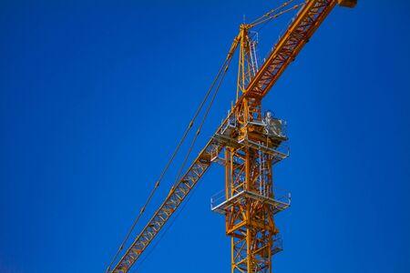 Crane at the under construction in Ho Chi Minh Vietnam closeup