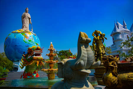 A buddhism statues at Suoi Tien park in Ho Chi Minh Vietnam handheld