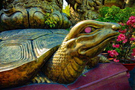 A statue turtle at Suoi Tien park in Ho Chi Minh Vietnam