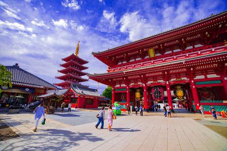 A main gate of Sensouji temple in Asakusa Tokyo daytime Éditoriale