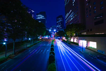 A night urban city street in Shinjuku wide shot Banque d'images - 157437887