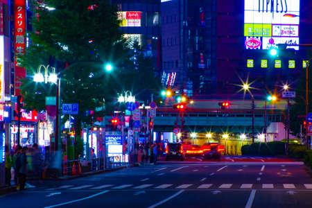 A night neon street in Shinjuku long shot Banque d'images - 158498956