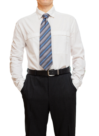 hands on pockets: Businessman with hands in pockets
