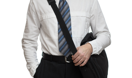 business briefcase: Closeup of business briefcase