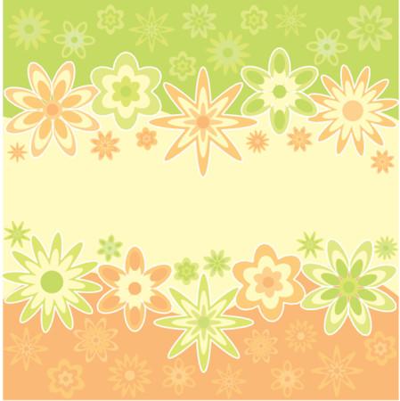 Floral background, vector Vector Illustration