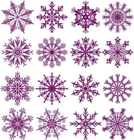 Snowflakes, vector illustration Illustration