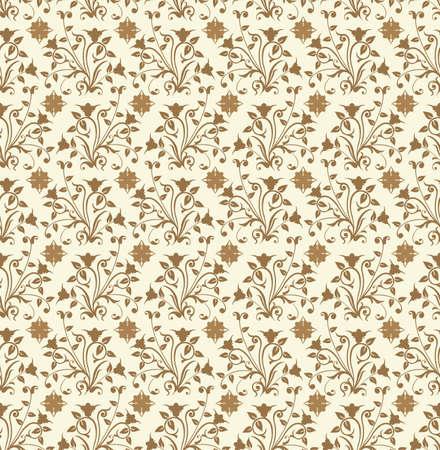 Floral pattern, vector illustration Stock Illustration - 882244