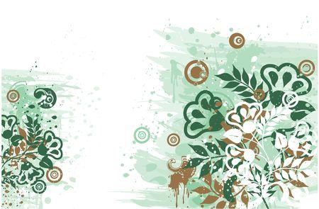 Grunge floral background, vector illustration Stock Illustration - 882249