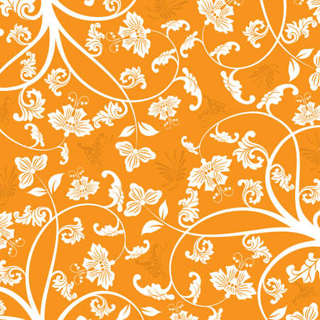 Floral pattern, vector illustration Stock Illustration - 884170