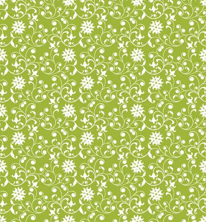 Floral pattern, vector illustration Stock Illustration - 884175