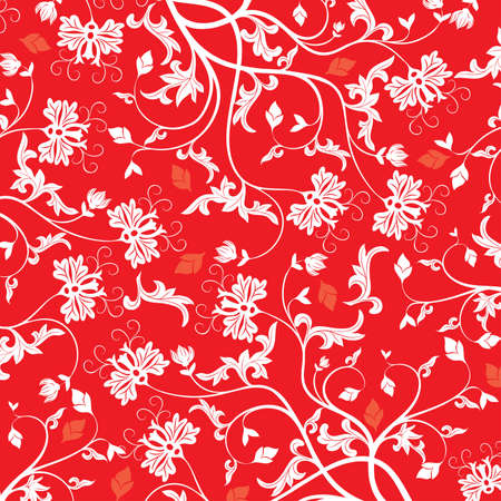 Floral pattern, vector illustration Stock Illustration - 884178