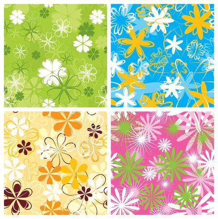 Retro floral pattern, seamless, vector illustration Stock Illustration - 884197