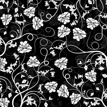 Floral pattern, vector illustration Stock Illustration - 884212