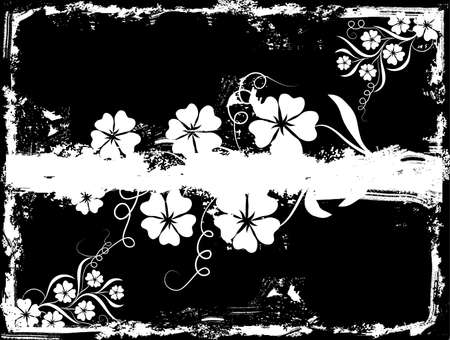 Grunge floral background Stock Photo - 895227