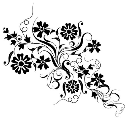 Floral element for design photo