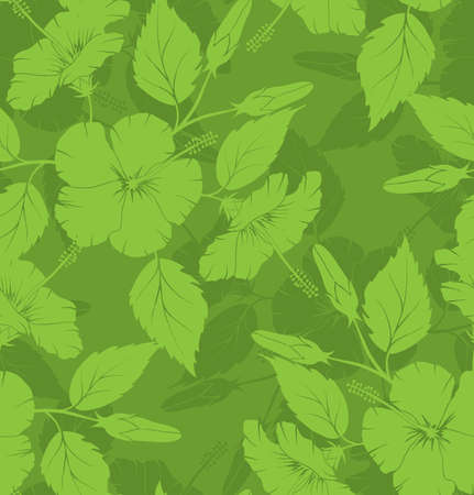 Hibiscus seamless pattern photo