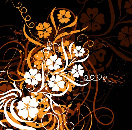 Grunge floral background Stock Photo - 895409