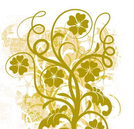 Grunge floral background Stock Photo - 895410