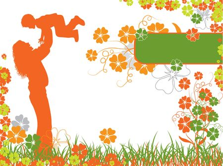 Mother, floral background Stock Photo - 895420