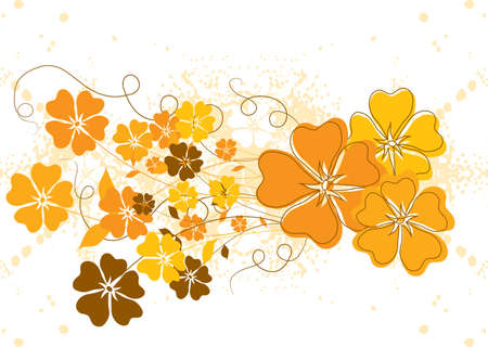 Grunge floral background Stock Photo - 932493