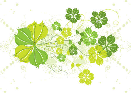 Grunge floral background Stock Photo - 932494