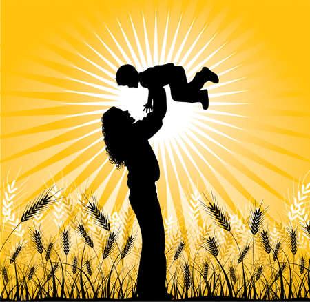 oat field: Happy family