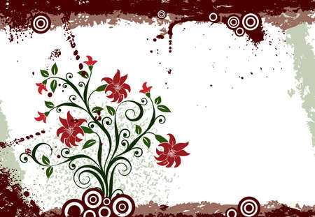 Grunge floral background Stock Photo - 939606