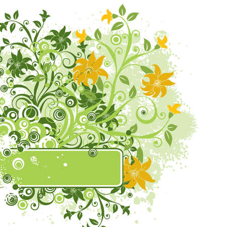 Grunge floral background Stock Photo - 939609