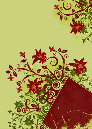 Grunge floral background Stock Photo - 939614
