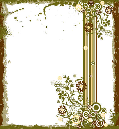 Grunge floral background Stock Photo - 959676