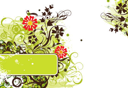 Grunge floral background Stock Photo - 959680