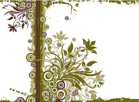 Grunge floral background Stock Photo - 989714