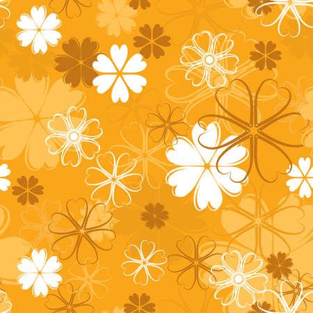 Retro floral pattern, seamless