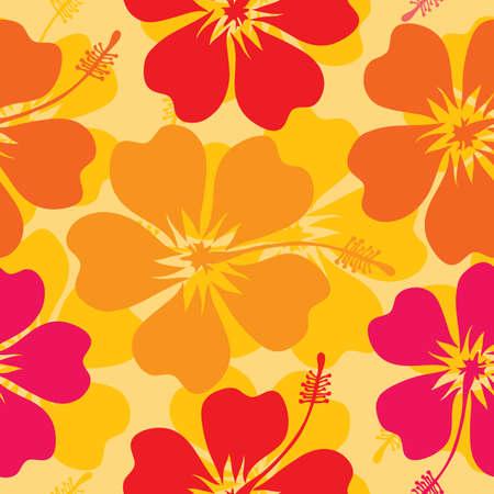 rectangle patterns: Hibiscus seamless pattern