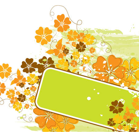 Grunge floral background Stock Photo - 1364634
