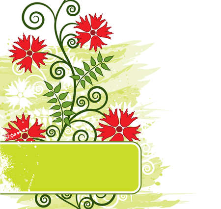 Grunge floral background Stock Photo - 1364632