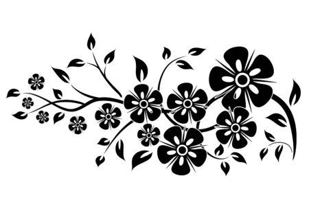 Dekorative florale Elemente für das Design, Vektor-Illustration