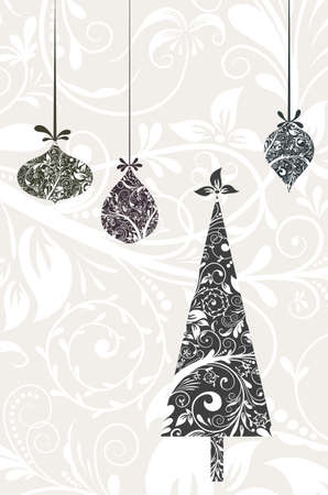 christmas tattoo: Christmas card with an ornament, vector illustration Illustration