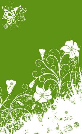 Floral grunge background, vector illustration Vector
