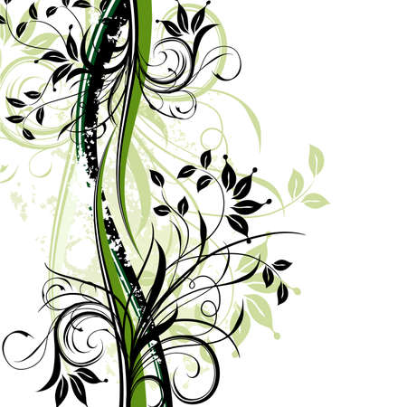 abstract leaf: Floral abstract background, vector illustration