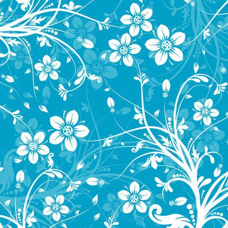Decorative floral pattern, vector illustration