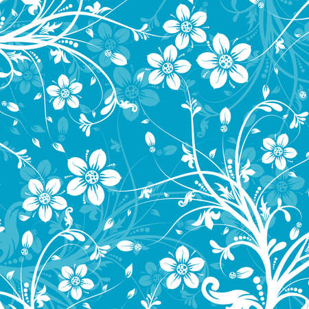 drawings image: Decorative floral pattern, vector illustration