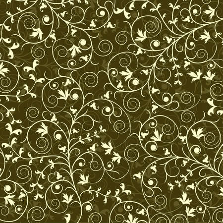 Decorative floral pattern, vector illustration Stock Vector - 8960722