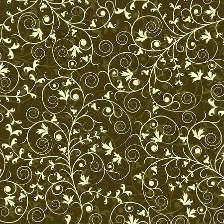 textile image: Decorative floral pattern, vector illustration